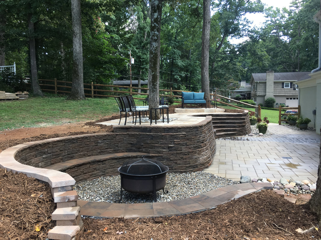 Hardscaped Back Yard In Sherwood Forest